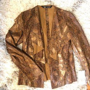 NEW Zara snakeskin blazer.  XS